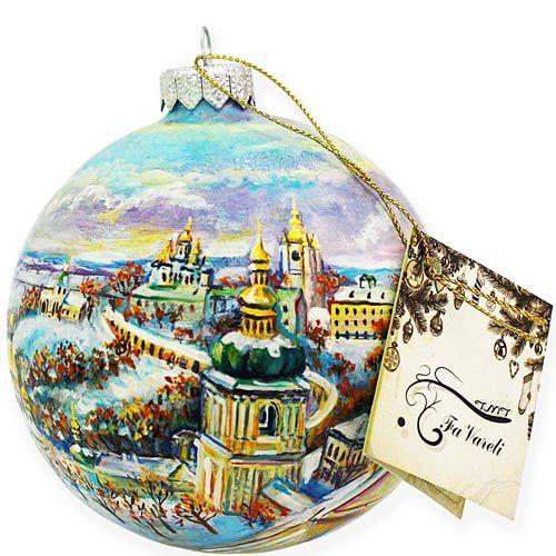 Елочный шар FaVareli Мой Киев с ручной росписью, фото