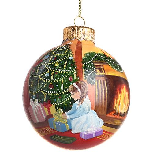 Елочный шар FaVareli Украшение для ёлочки с ручной росписью, фото
