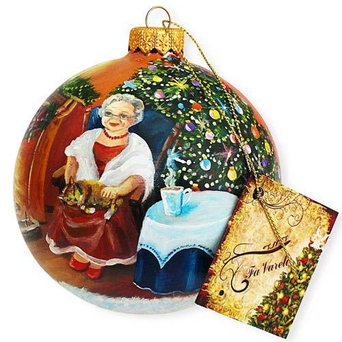 Елочный шар FaVareli Минутка до Нового года с ручной росписью, фото