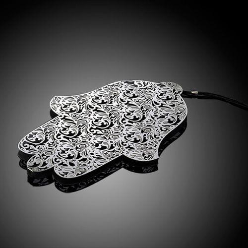 Хамса-оберег Metalace с ажуром Royal Jacquard, фото