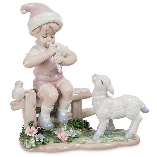 Статуэтка Pavone JP Мальчик и ягненок, фото
