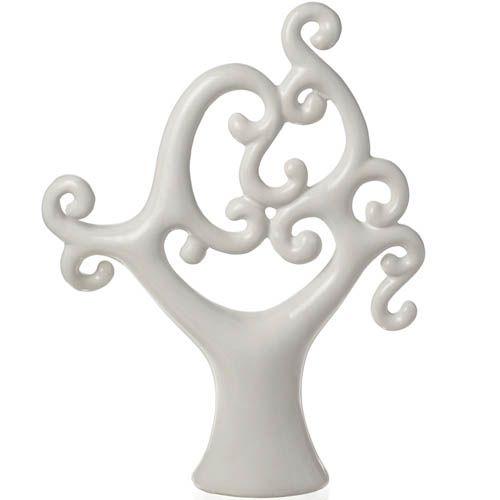 Фигурка Eterna Деверо белая глянцевая керамическая, фото