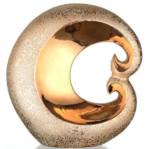 Золотистый декор Eterna Восточный шелк с изящным узором 23 см, фото