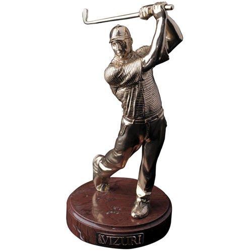 Скульптура Vizuri Игрок в гольф позолоченная, фото