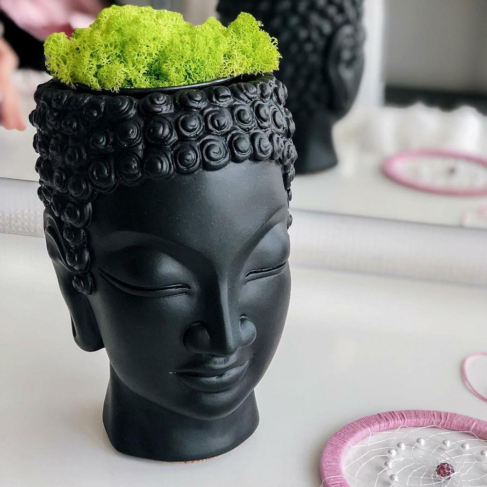 Ваза-органайзер Vase Head Будда многофункциональная
