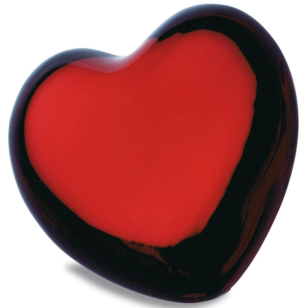 Хрустальная фигурка Baccarat Сердце красного цвета