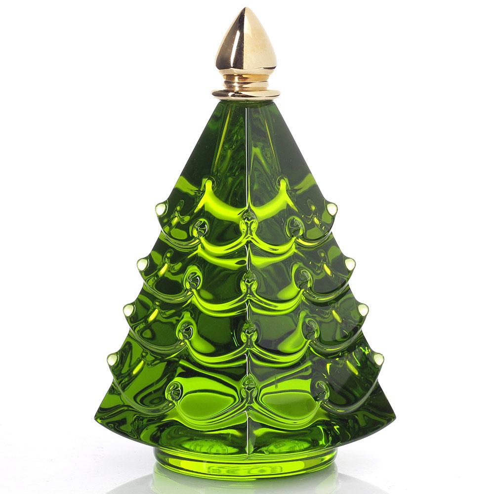 Хрустальная елочка Baccarat зеленого цвета