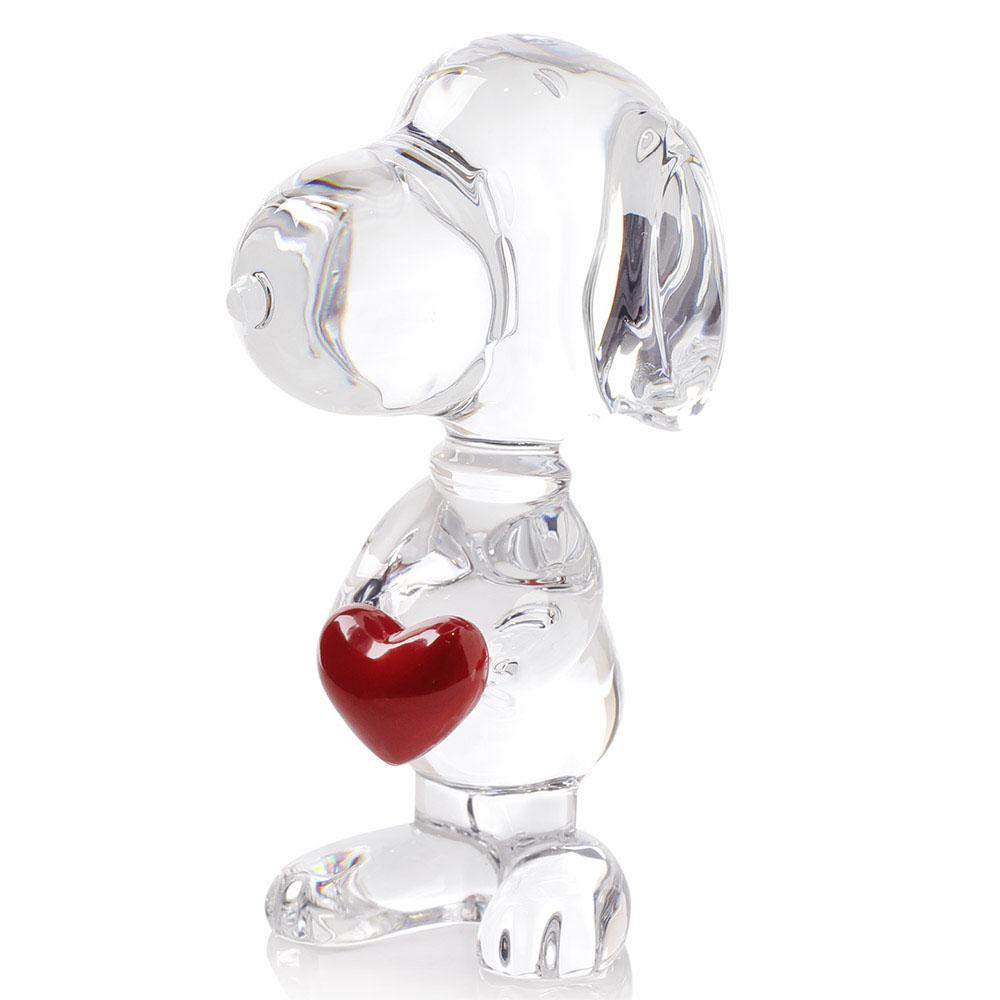 Хрустальная фигурка Baccarat Снуппи с сердцем