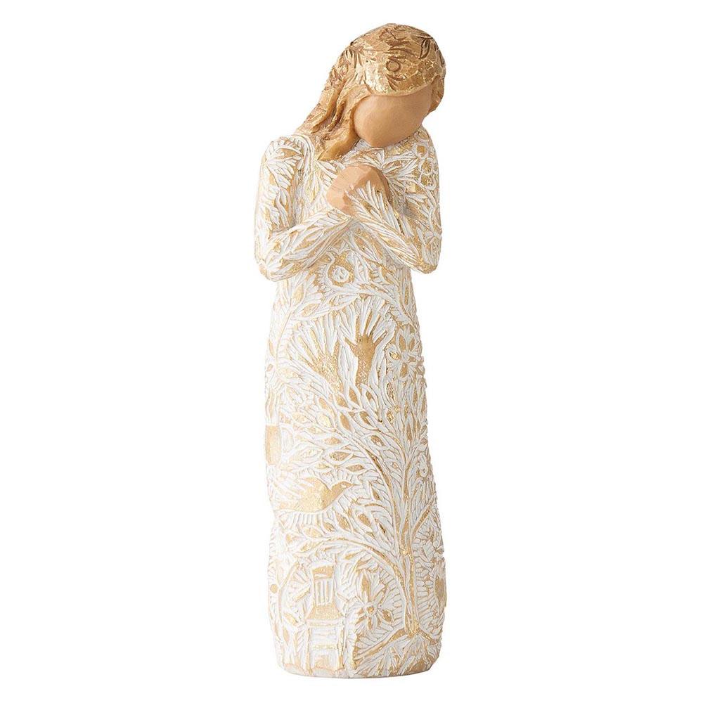 Ангел с золотистыми рисунками Enesco Tapestry