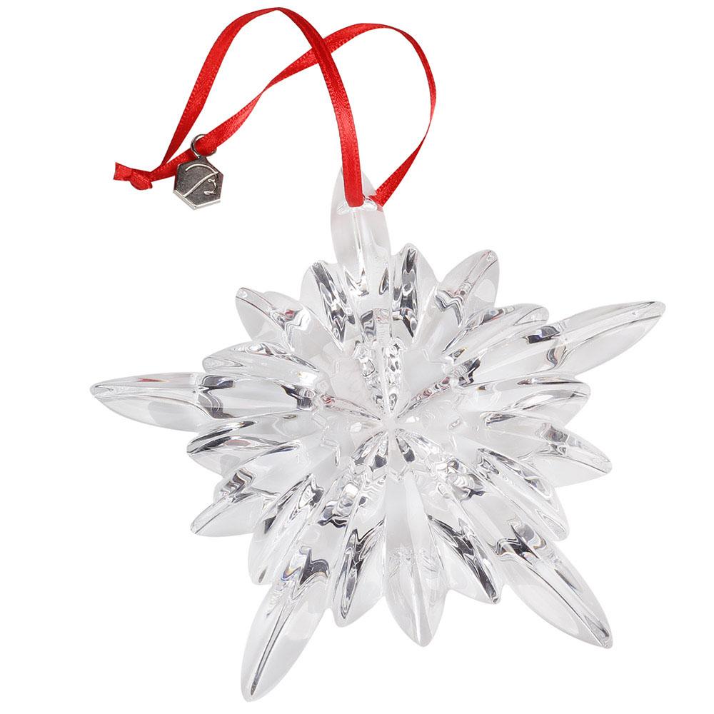 Хрустальная фигурка Baccarat Новогодняя снежинка