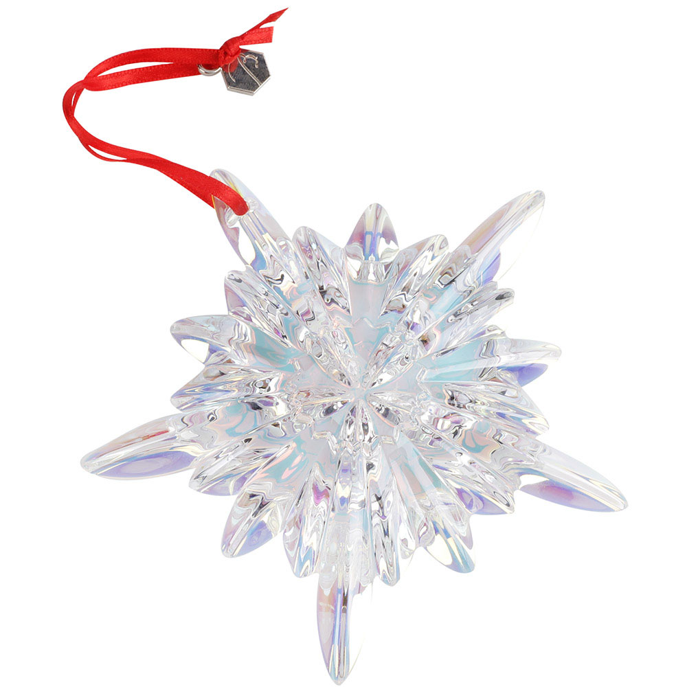Фигурка Baccarat Новогодняя снежинка из хрусталя