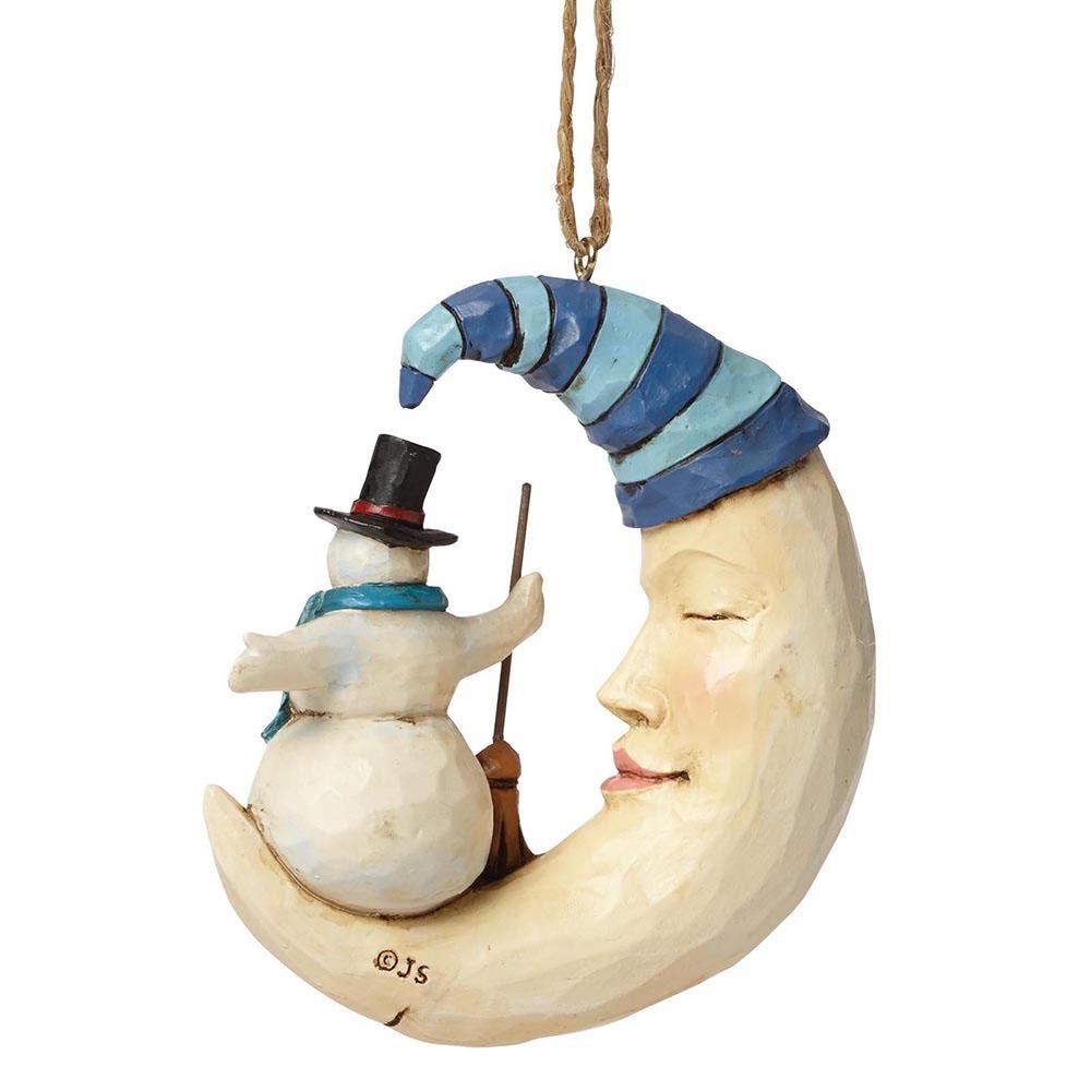 Фигурка Enesco Месяц и снеговик