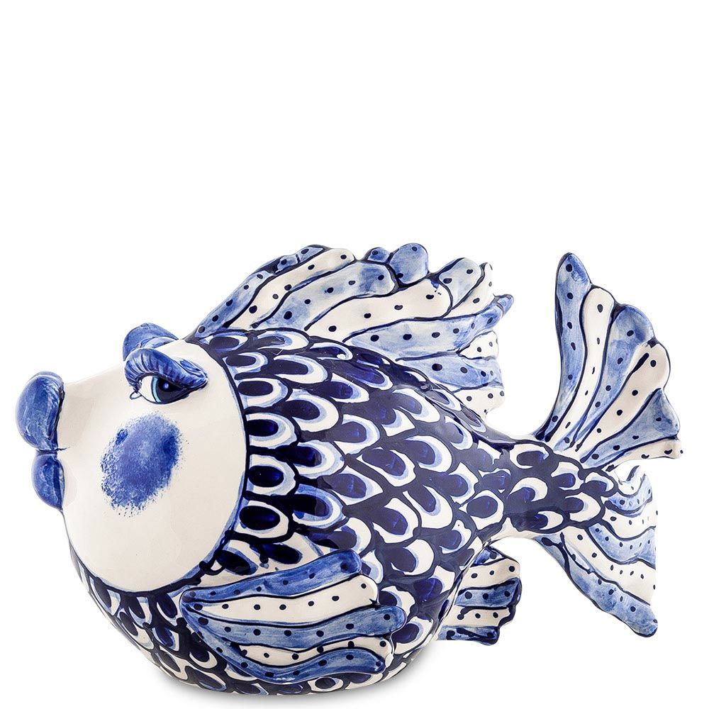 Фигурка Pavone Blue Sky Рыба сине-белая