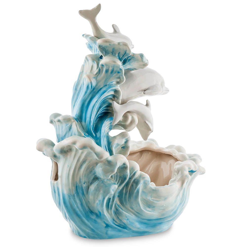 Фонтан декоративный Pavone Blue Sky Дельфины
