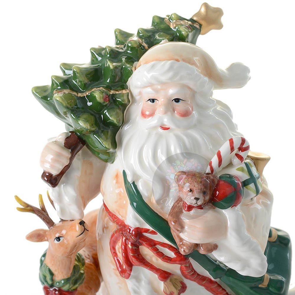 Статуэтка Pavone Дед Мороз с елкой