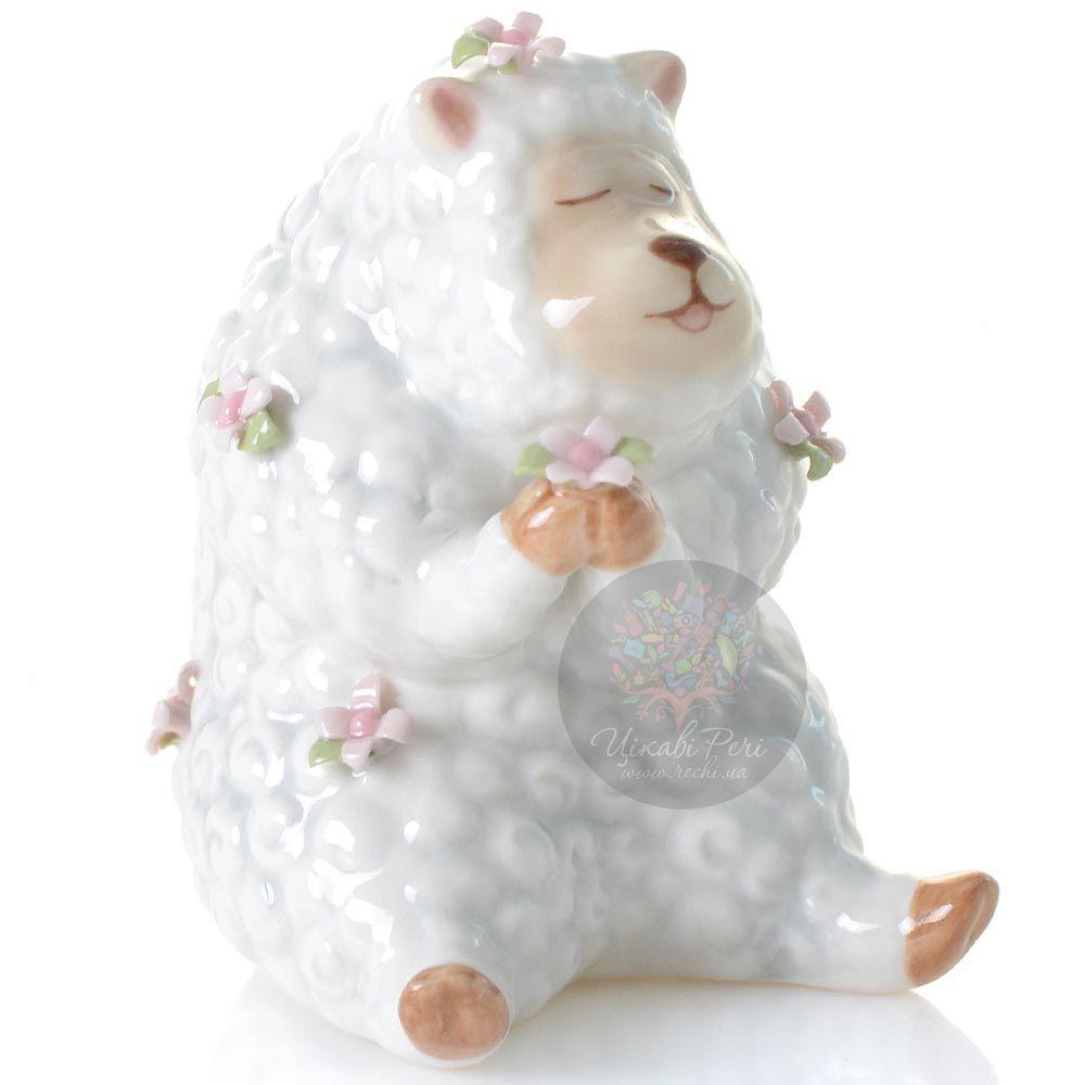 Статуэтка Pavone Овечка с цветочком