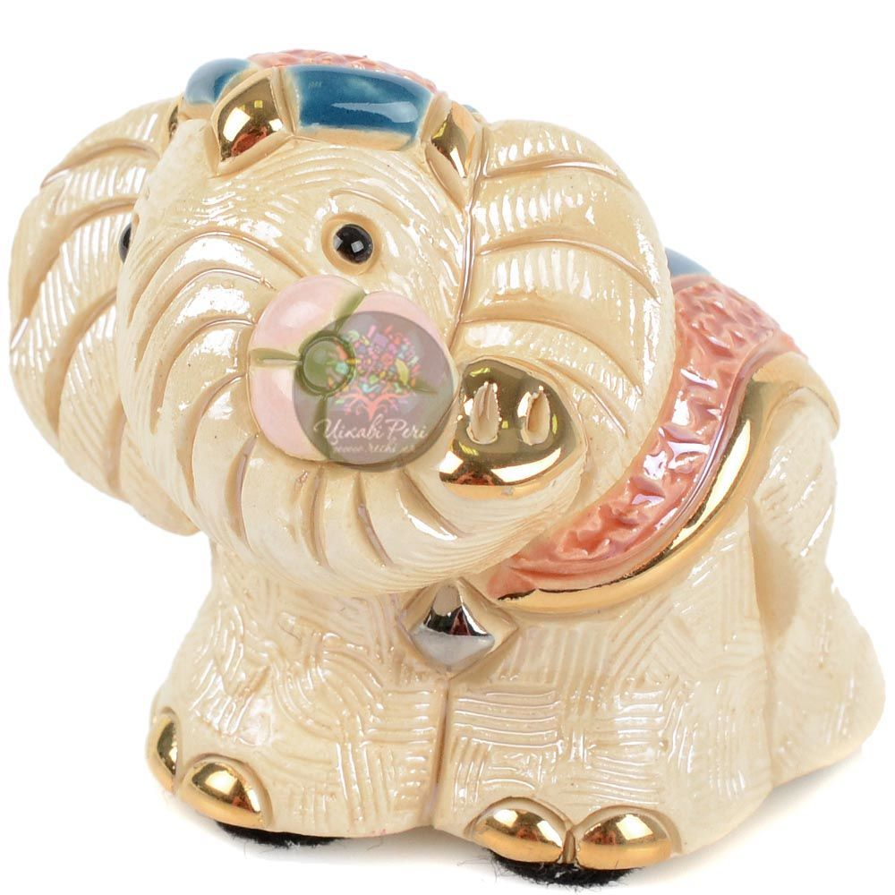 Фигурка De Rosa Rinconada Minis Слоненок Африканский с цветком в хоботе