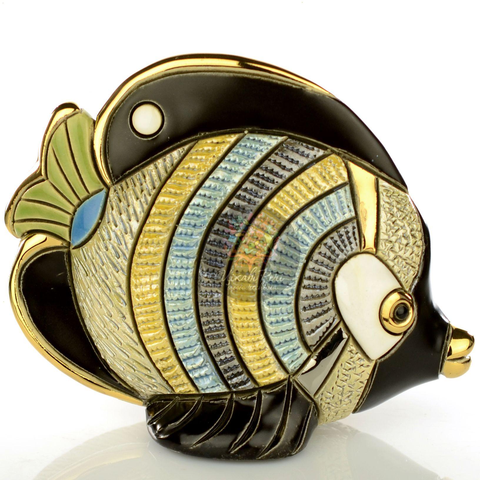 Фигурка De Rosa Rinconada Families  Рыба-Бабочка с зеленым хвостом