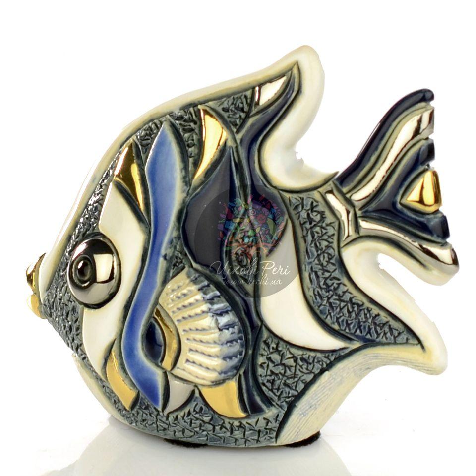 Фигурка De Rosa Rinconada Families  Рыбка-Ангел серо-бело-синяя