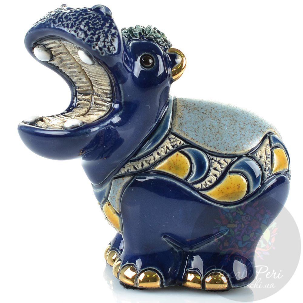 Фигурка De Rosa Rinconada Families Гиппопотам синий малый