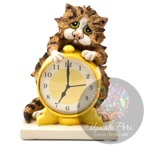 Кот с будильником Enesco