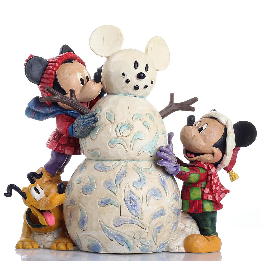 Статуэтка Enesco Микки и снеговик