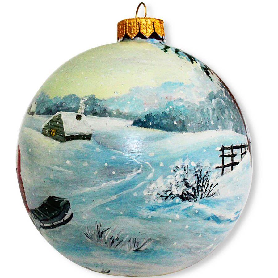 Елочный шар FaVareli За ёлочкой с ручной росписью