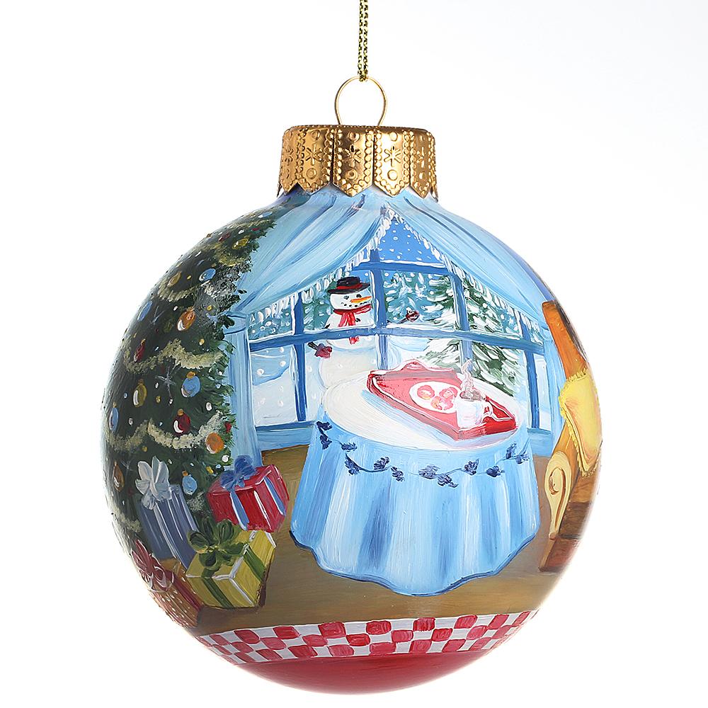 Елочный шар FaVareli Печенье для Санты с ручной росписью