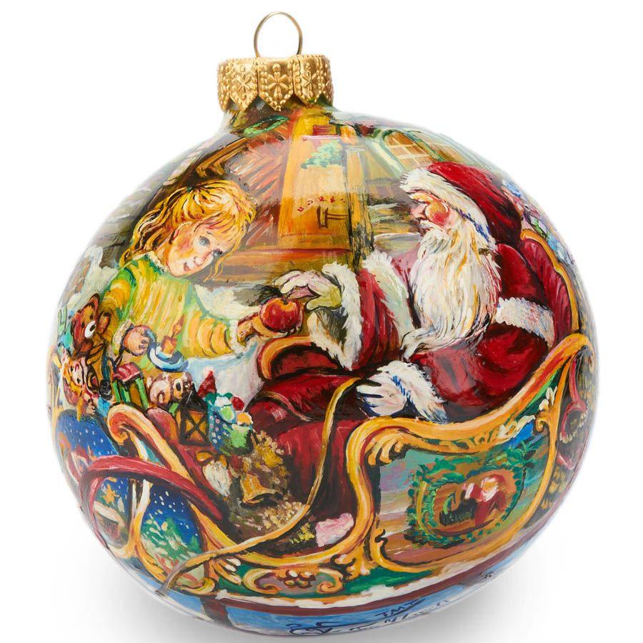 Елочный шар FaVareli Подарки с ручной росписью