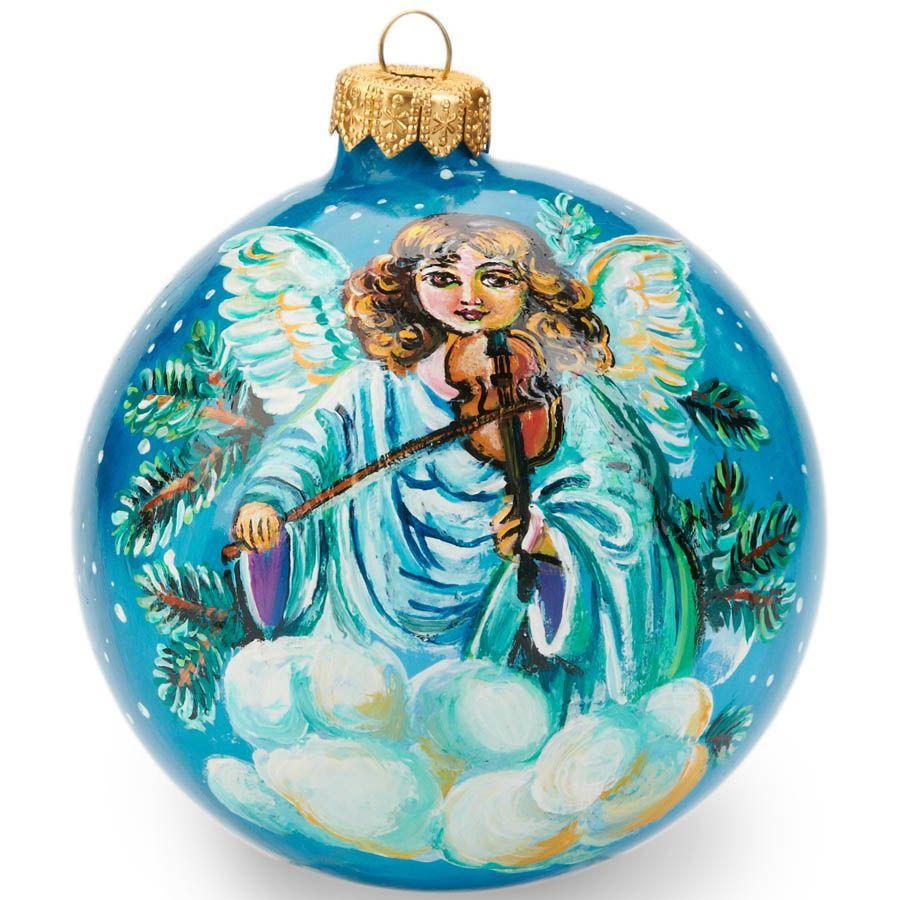 Елочный шар FaVareli Добрый Санта с ручной росписью
