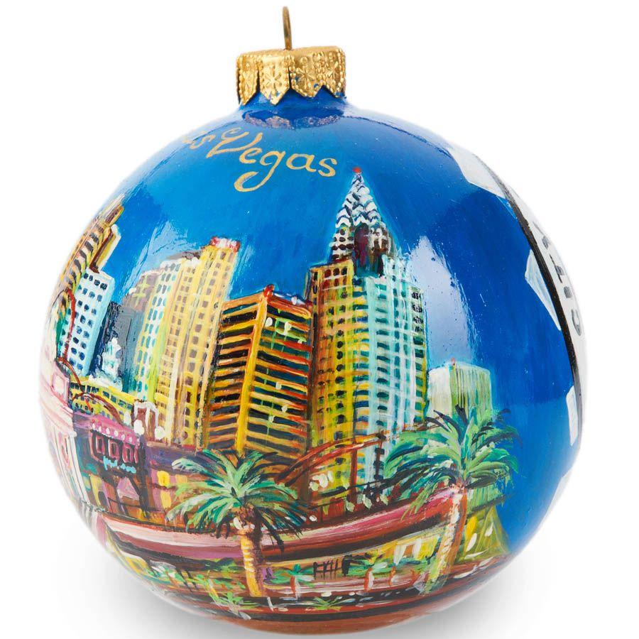 Елочный шар FaVareli Лас-Вегас с ручной росписью