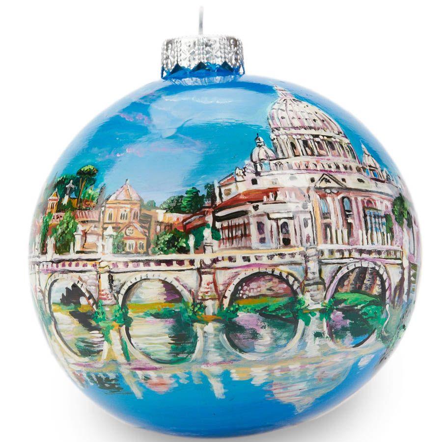 Елочный шар FaVareli Ватикан с ручной росписью