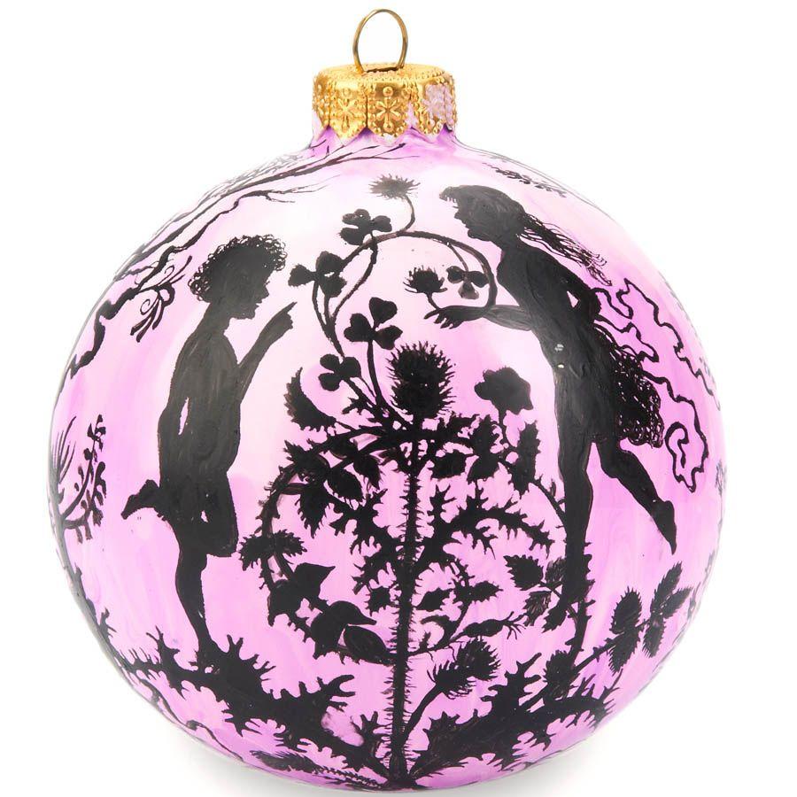 Елочный шар FaVareli Волшебный лес с ручной росписью