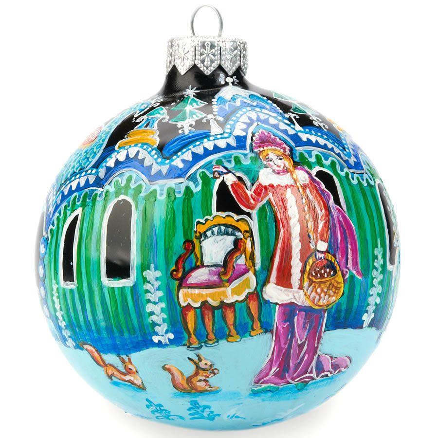 Елочный шар FaVareli Сказка с ручной росписью