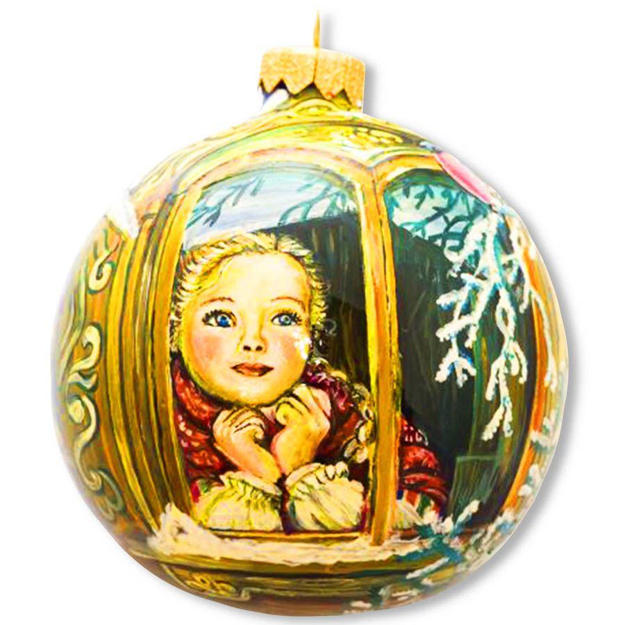 Елочный шар FaVareli В ожидании Нового Года с ручной росписью