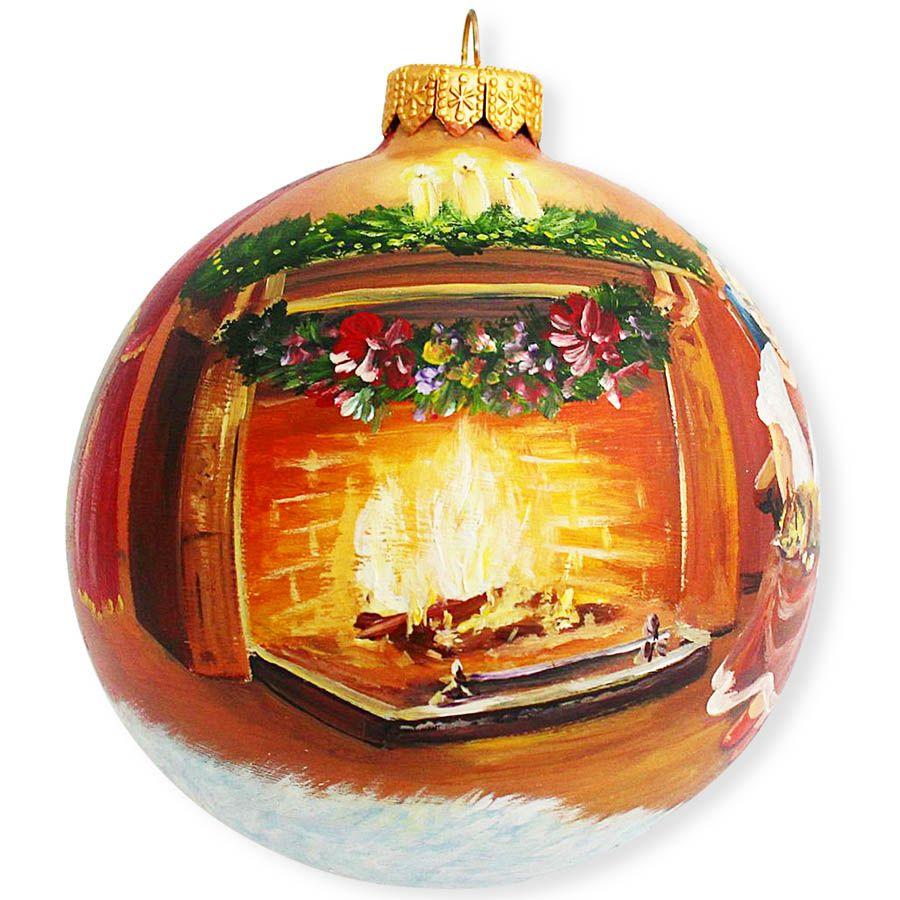 Елочный шар FaVareli Минутка до Нового года с ручной росписью