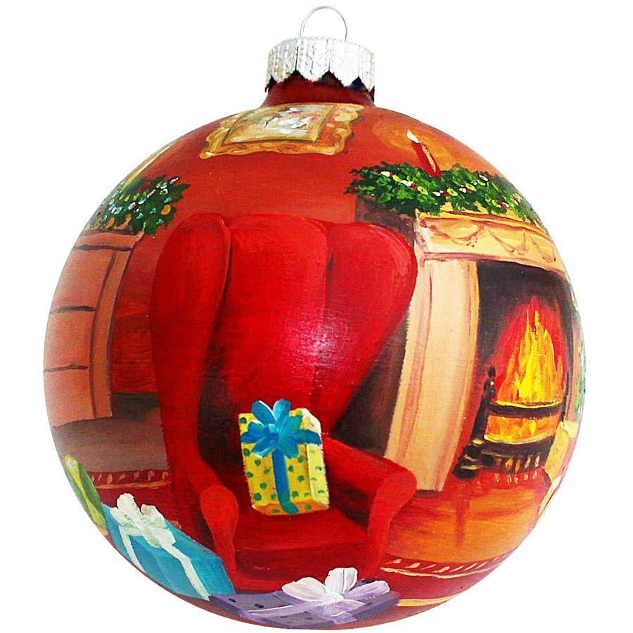 Елочный шар FaVareli Подружки с ручной росписью