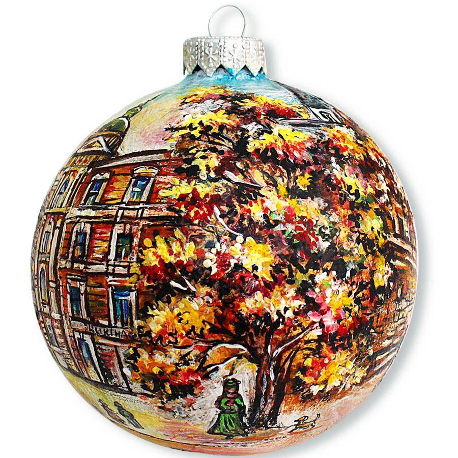 Елочный шар FaVareli Софиевский собор с ручной росписью