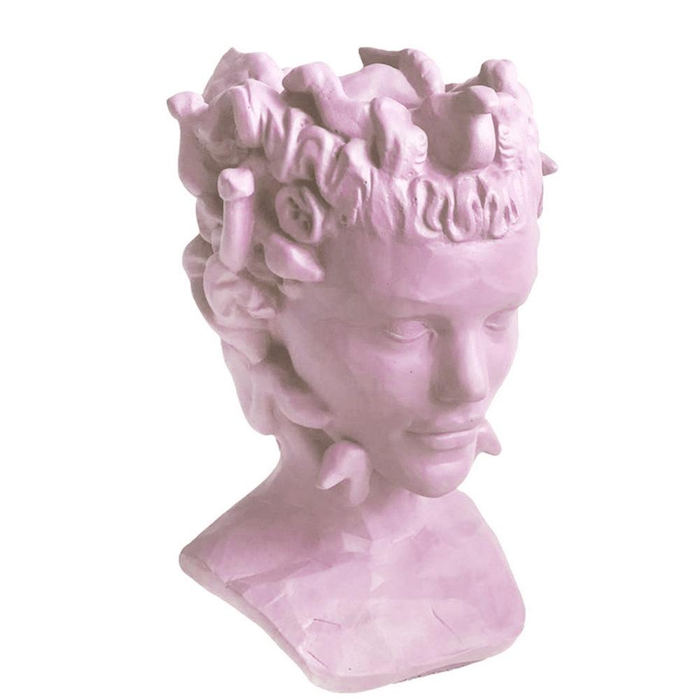 Ваза-органайзер Vase Head Горгона лилового цвета