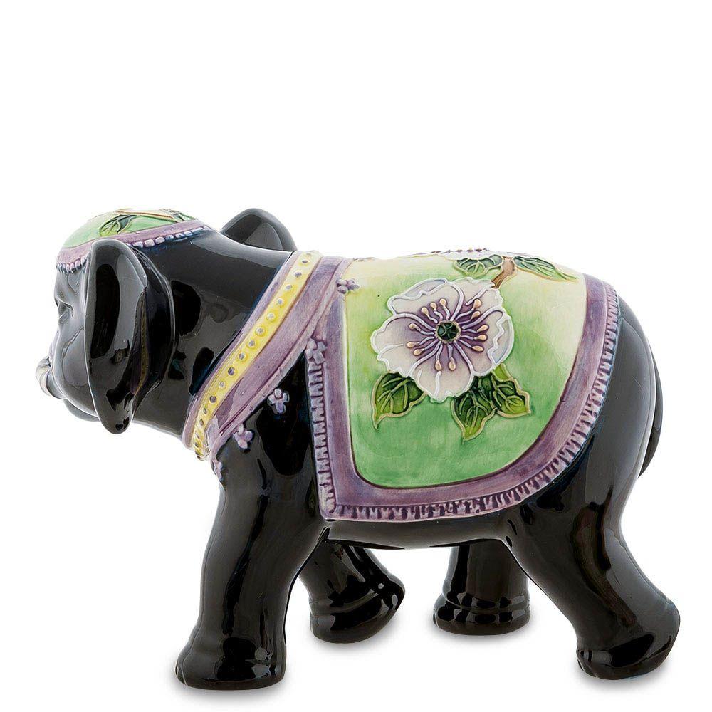 Статуэтка Pavone JP Design Слон с зелено-фиолетовой накидкой