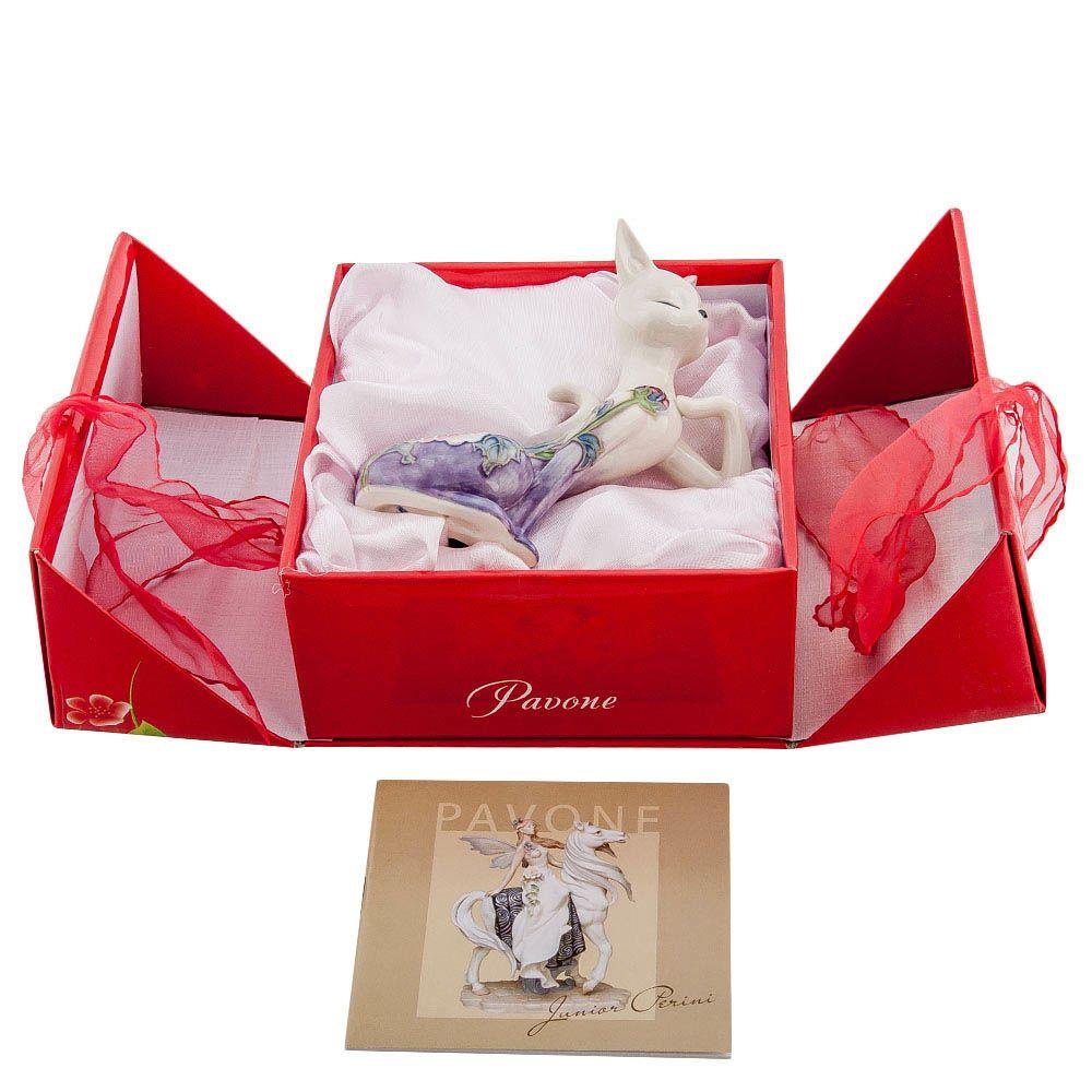Статуэтка Pavone JP Design Кошка в сиреневом цвете