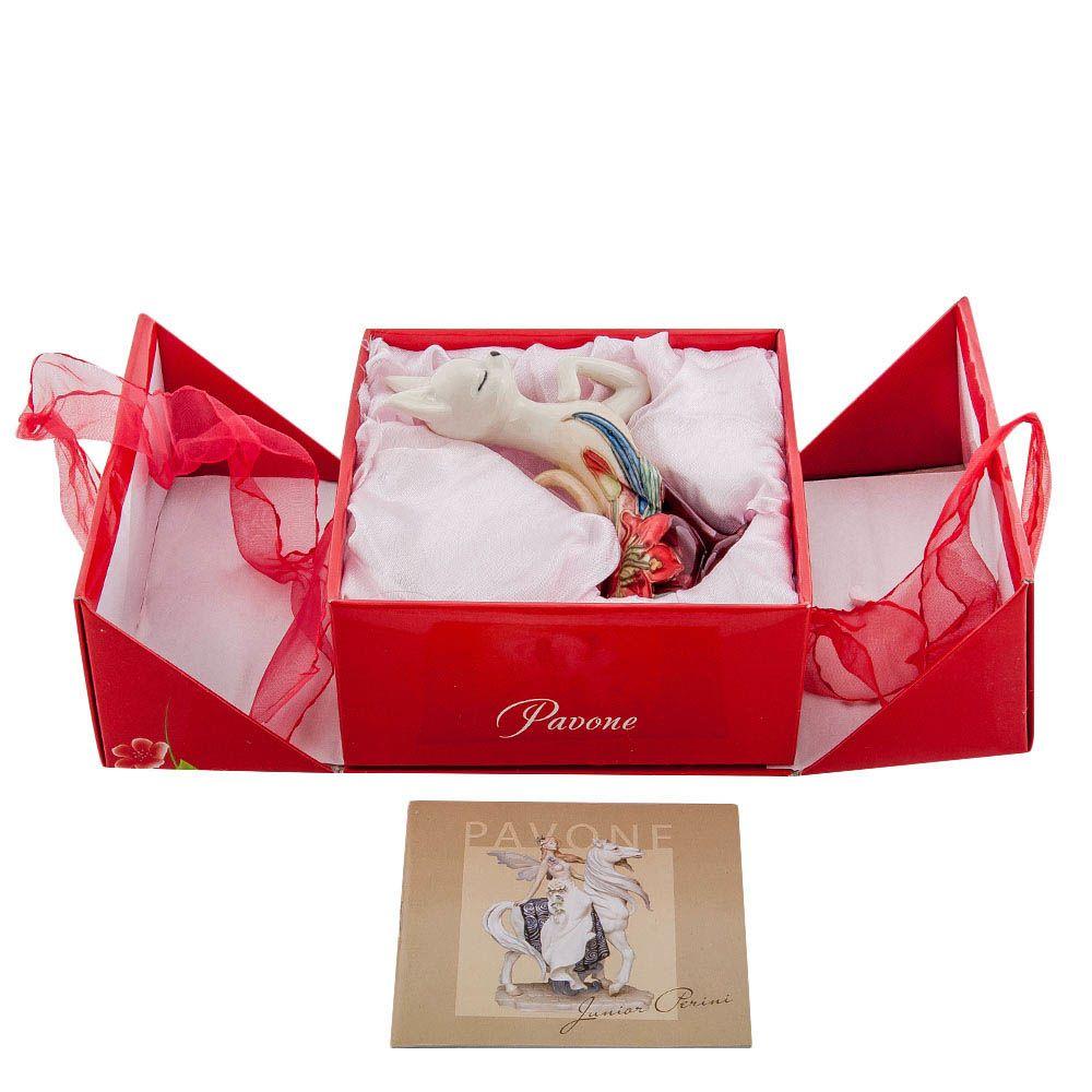 Статуэтка Pavone JP Design Кошка с яркой цветочной росписью