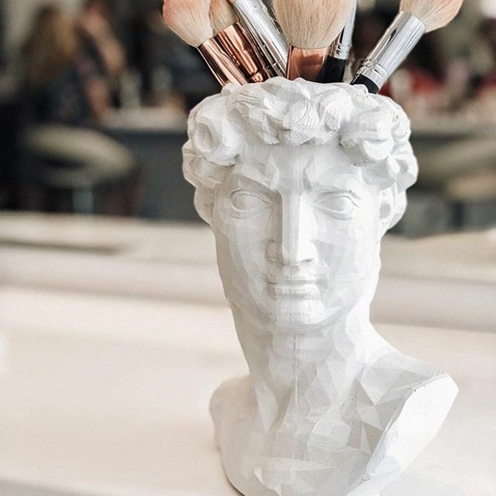Ваза-органайзер Vase Head Давид ручной работы, фото