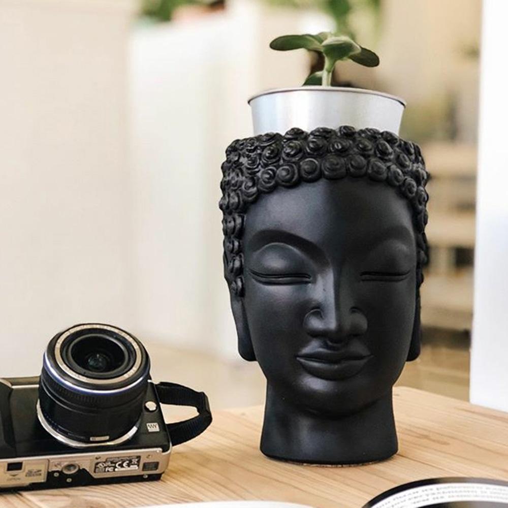Ваза-органайзер Vase Head Будда многофункциональная, фото