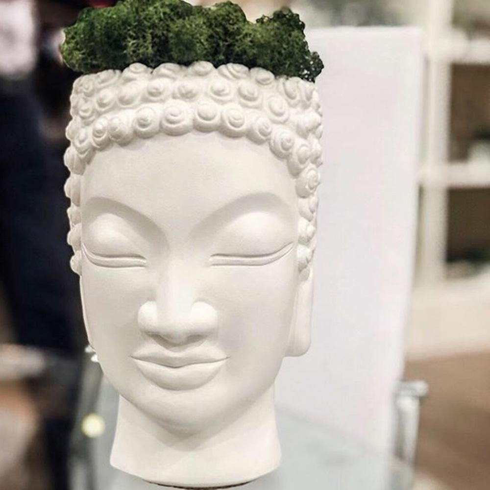 Ваза-органайзер Vase Head Будда ручной работы, фото