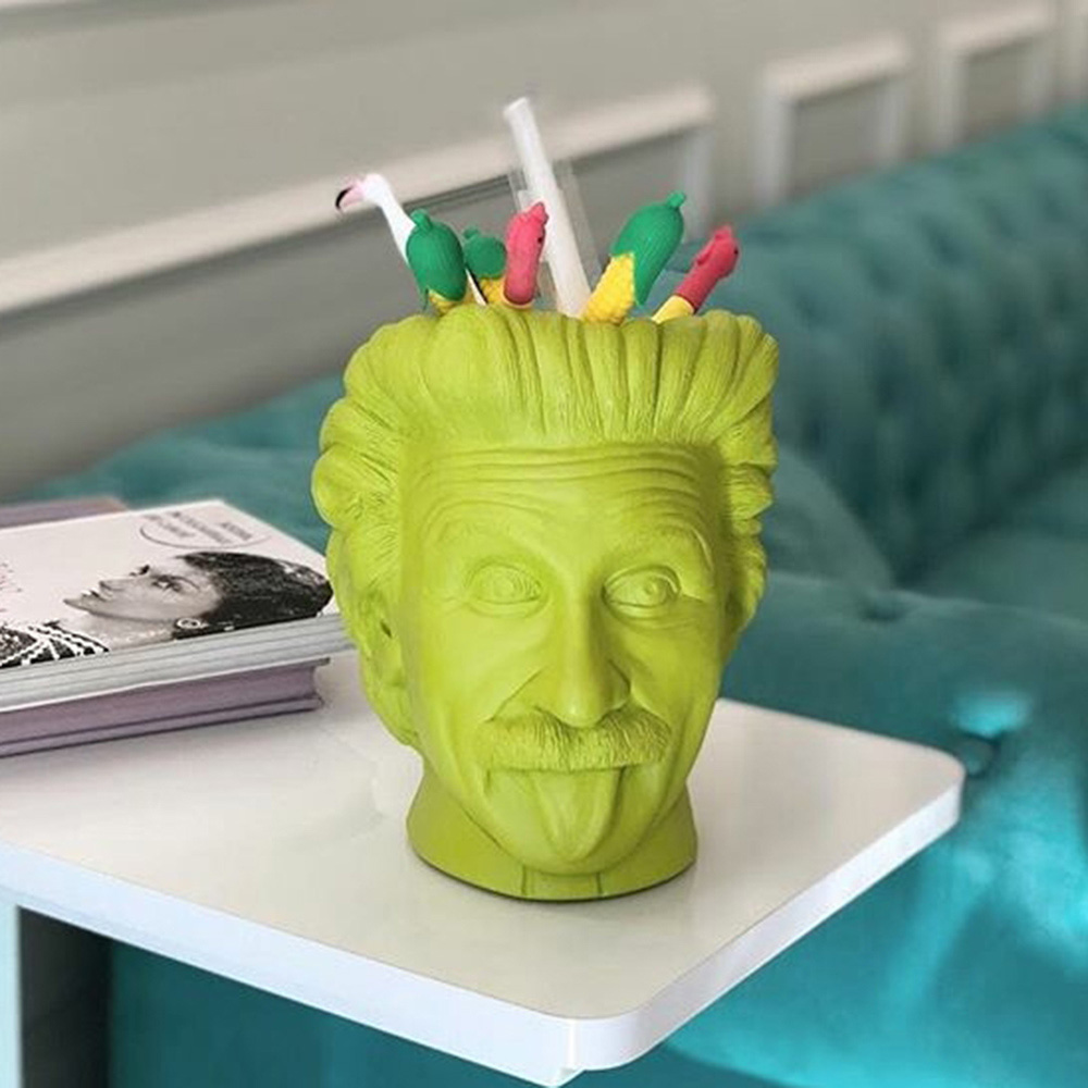 Ваза-органайзер Vase Head Эйнштейн салатового цвета, фото