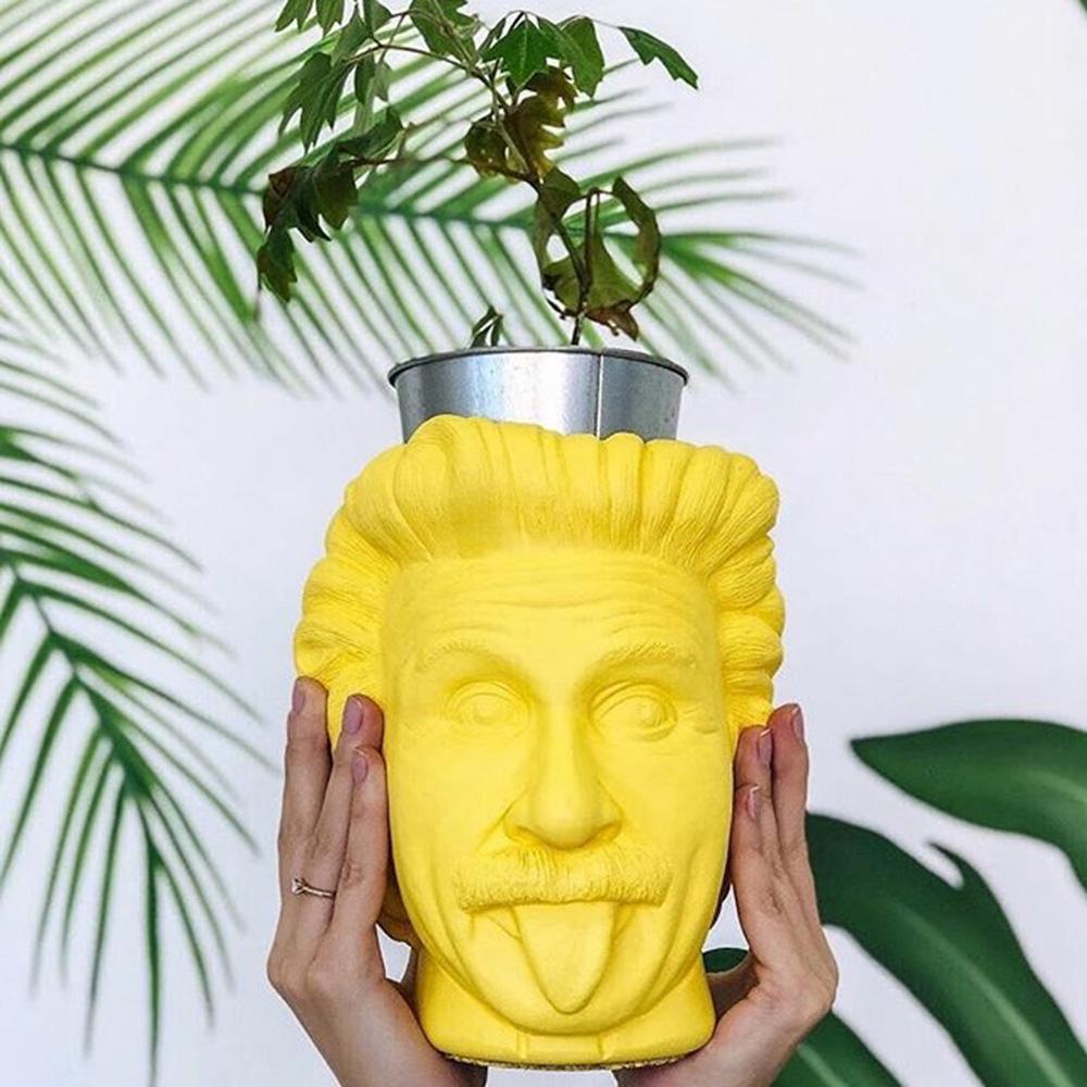Декоративная ваза-органайзер Vase Head Эйнштейн ручной работы, фото