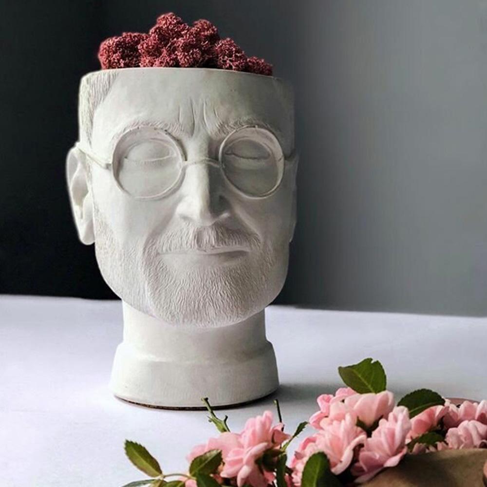 Ваза-органайзер Vase Head Стив Джобс, фото