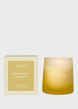 Парфюмированная свеча Stone Glow Geometric 200г, фото