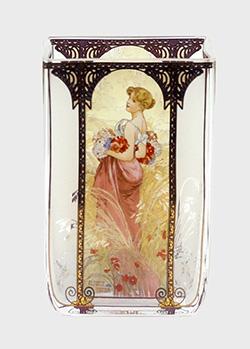 Подсвечник Goebel Artis Orbis Лето 1900 стилизован под картину Альфонса Мухи, фото